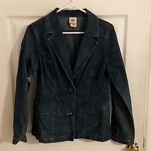 Stretch Tailored Denim Jacket